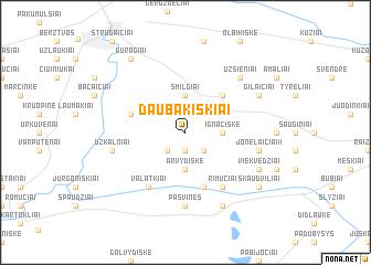 map of Daubakiškiai