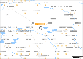 map of Daubitz