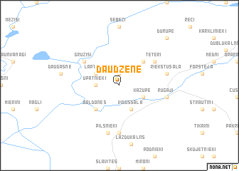 map of Daudzene