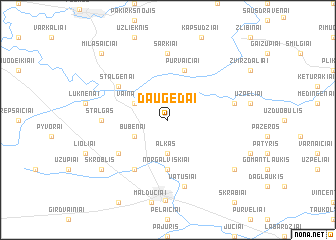 map of Daugėdai