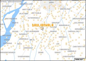 map of Dauliānwāla