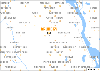 map of Daunggyi