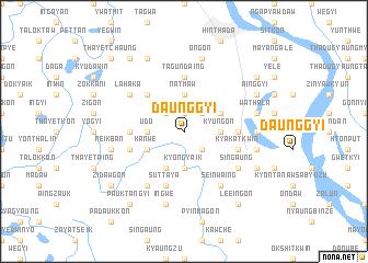 map of Daunggyi