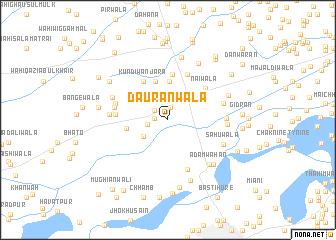 map of Daurānwāla