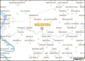 map of Dausenau