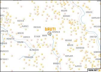 map of Dauti