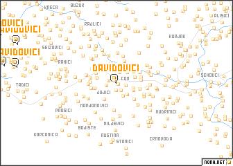 map of Davidovići