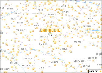 map of Davidovići