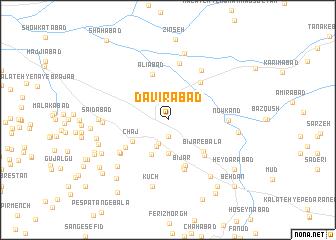 map of Dāvirābād