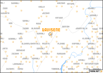 map of Davisene