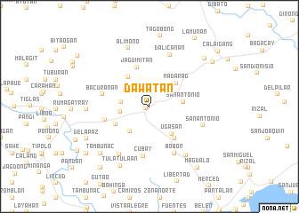 map of Dawatan