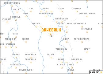 map of Dawebauk