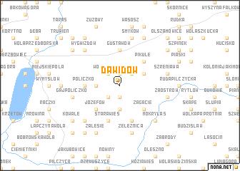 map of Dawidów