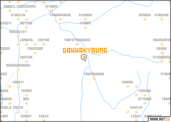 map of Daw-wa-kyaung