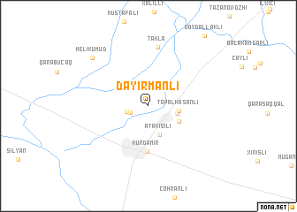 map of Dǝyirmanlı