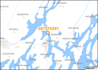 map of Days Ferry