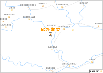 map of Dazhangzi