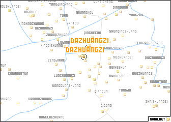 map of Dazhuangzi