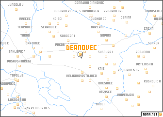 map of Deanovec