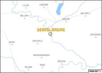 map of Deans Landing