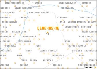 map of Dębe Kąskie