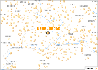 map of Debelo Brdo