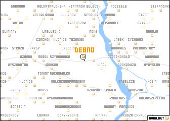 map of Dębno