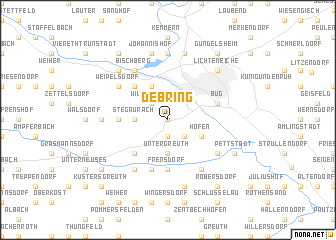 map of Debring
