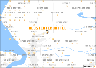 map of Debstedterbüttel
