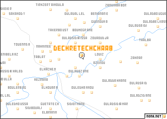 map of Dechret ech Chaab