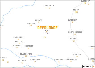 map of Deer Lodge