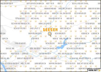 map of Deesem