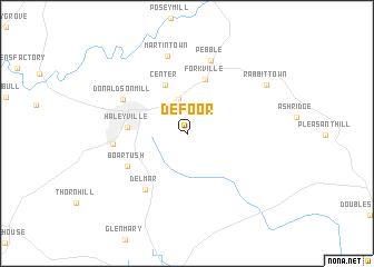 map of DeFoor