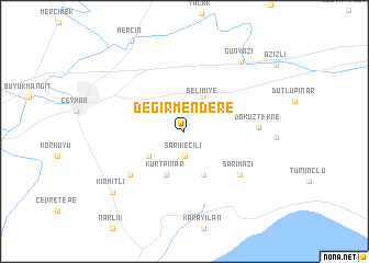 map of Değirmendere