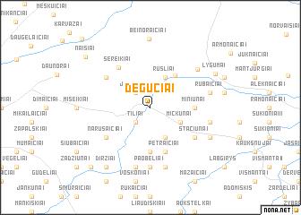 map of Degučiai