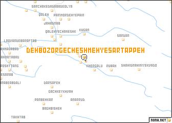 map of Deh Bozorg-e Cheshmeh-ye Sartappeh