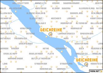 map of Deichreihe