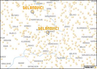 map of Delanovići