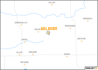map of Delavan