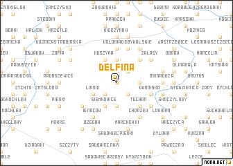map of Delfina