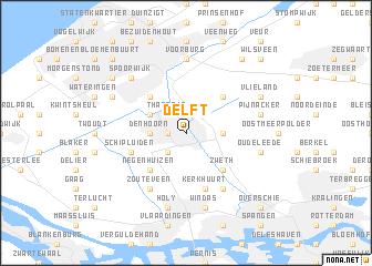 Delft Netherlands map nonanet