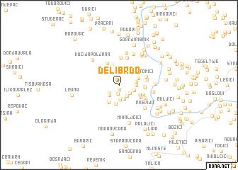 map of Delibrdo