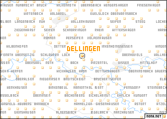 map of Dellingen