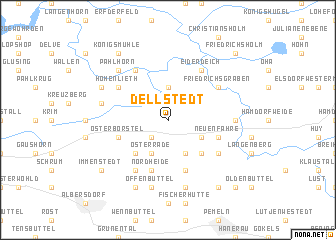 map of Dellstedt