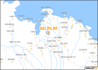 map of Del Pilar