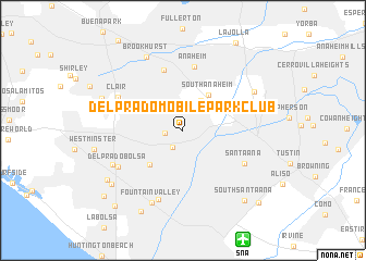 map of Del Prado Mobile Park Club
