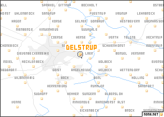 map of Delstrup