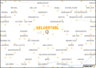 map of Delventhal