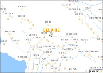 map of Delvinë