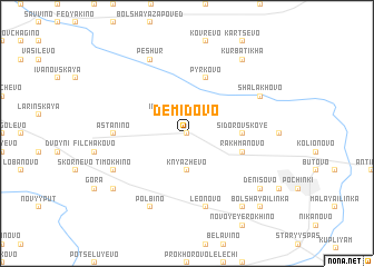 map of Demidovo